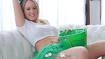 Tiny4K Festive busty Alexis Adams fucks her bf on St Patricks day