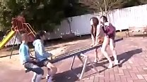 Mom and son playing in the park go to  hotcammodels.online to get more