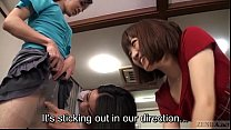 Subtitled Japanese cougars embarrassing cross d...