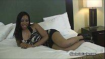 Big black tits having fun on casting Image