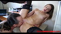 Skinny Teen Girl Gets Fucked In Her Ass By Her Boss - TeensLoveAnalSex.com صورة
