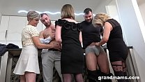 First Ever Granny Orgy! Cock Fest! Image