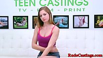 Hardfucked teen gagging at brutal casting preview image