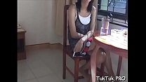 Talented asian slut gets her messy mouth stuffed with ramrod