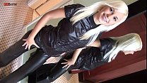 Eroberlin Lola Striptease Teenstar leather fetish blond hair