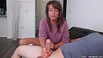 Step-mom caught me masturbating