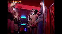Real amateur cumshot orgy in swinger club