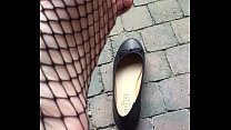 Teen feet dangling shoeplay