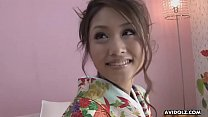 Young hairy Asian gal Iori Miduki gets fingered and drilled