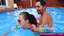 Swim and dick lessons for teenie teen Carolina Sweets