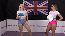 Bra and Panties Match (Strip-Wrestling Match) w, Loser gets strapped in a nappy (diaper)!! ~ Chrissy Morgan vs Tammy Pink