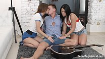 FirstBGG.com- Sofy Torn & Jessica Lincoln -Two sporty babes seduce musician