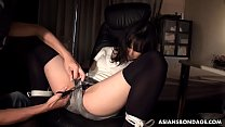 Kinky Hotaru Ohsawa got fucked in the ass after spanking