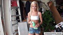 Slim blonde teen first time anal sex on huge dick