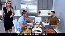 FamilyStrokes - Sexy Milf Phoenix Marie Fucks Stepson & Dad For Thanksgiving Image