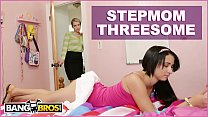 BANGBROS - Stepmom Mandy Sky Has Threesome With Stepdaughter Courtney Cummz