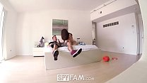 SpyFam Brunette step sister Lana Rhoades blackmails step brother thumbnail