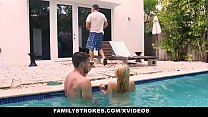 Familystrokes Cute Teen Blonde Teases Cousin & Uncle