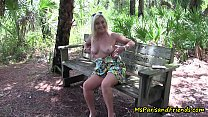Practicing Social Distancing Mommy Gets Horny Flashing in the Park