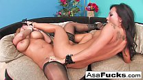 Asa  wants a really hot girl on girl