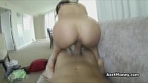 Latina goes from parking lot to my big cock