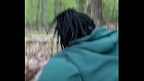 Teen ebony 18 fuck with the white boy  In woods