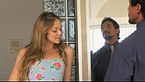 Jessie Andrews, babysitter who also takes care of her boss's cock.