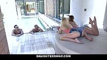 Steamy Daughter Pool Sex - Kenzie Madison, Katie Kush