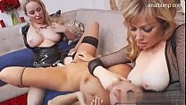 Aiden Starr Adrianna Nicole and one more in crazy thresome strapon fucking