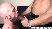 Hot and horny big cock daddies fucking hard at home