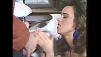 Sexy Brunette In Leather Sucks And Gets Stuffed Video صورة
