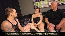 REIFE SWINGER - Threeway sex for mature German BBW lady Vorschaubild