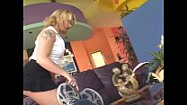Blonde maid in black stockings fucked in the ass