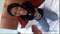 Hot ebony teen amateur gets banged by white coc...