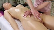 Petite sister Adelyn gets massaged until she cums