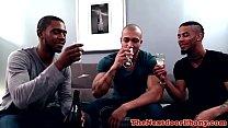 Cocksucking black adonis rimmed in ebony trio