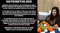 Naughty fun with balls in ass Hotkinkyjo