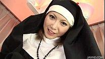 Sister Rika Sakurai prays to the sex gods for a soaking wet pussy Image