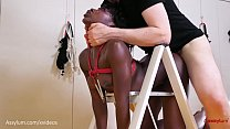 15185 Super hot black girl turned into ass to mouth face fuck toy for demented sicko (Noemie Bilas) preview