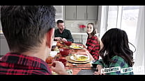 Two Hot Teen Daughters Jasmine Grey And Naomi Blue Decide To Swap Fuck Each Others Depressed Dad's During Thanksgiving Dinner Part 2