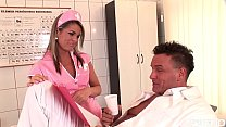 Sweet young nurse Federica Hill satisfies patient with epic blowjob