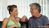 Old mom big tits Sex with her boypatron´s father after swimming pool