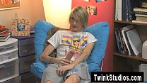 Hot twink scene Aidan and Preston are dangling out in the bedroom