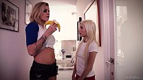 Daddy watches her innocent daughter go lesbian - Jessa Rhodes and Piper Perri Preview