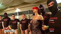 German Goo Girls - Blindfolded MILF bukkake gangbang