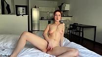 Solo masturbation and orgasm by the pretty wife...