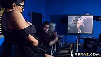 xvideps • MILF teacher shows a porn movie in class and fucks a student thumbnail