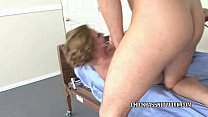 Blonde hottie Ava Rose nails her doctor in the exam room
