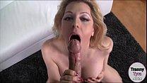 Huge tits blonde shemale Tyra Scott sucks and anal screwed