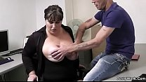 Boss pounds big tits secretary from behind Image